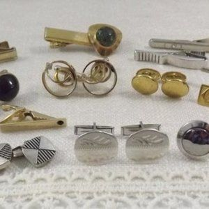 Other - Lot of 5+ Pairs of Vintage Cuff Links/Tie Clips
